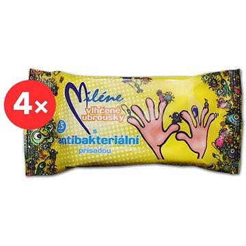 MILÉNE antibakteriální vlhčené ubrousky 4× 15 ks