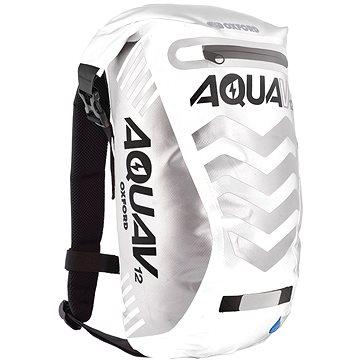 OXFORD vodotěsný batoh Aqua V12 Extreme Visibility, (bílá/šedá/reflexní prvky), objem 12l (M006-165)