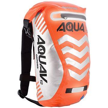 OXFORD vodotěsný batoh Aqua V12 Extreme Visibility, (oranžová fluo/reflexní prvky), objem 12l (M006-167)