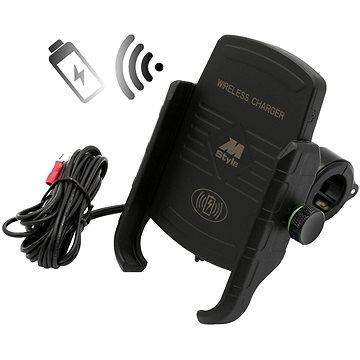 M-STYLE EW Držák telefonu s bezdrátovým nabíjením (2951-MS-EW1BK)