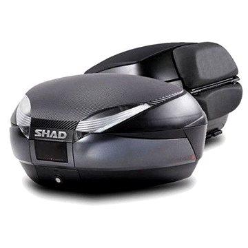 SHAD Vrchní kufr na motorku SH48 Tmavě šedý vč. opěrky, karbonového víka a zámku PREMIUM lock (D0B48306R)