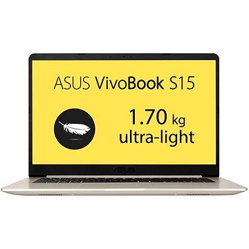 ASUS VivoBook S15 S510UN-BQ070T Gold Metal + ZDARMA Externí vypalovačka ASUS SDRW-08U9M-U stříbrná