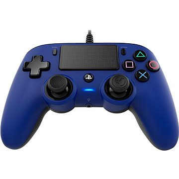 Nacon Wired Compact Controller PS4 - modrý (PS4OFCPADBLUE)