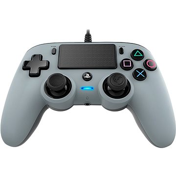 Nacon Wired Compact Controller PS4 - stříbrný (PS4OFCPADGREY)