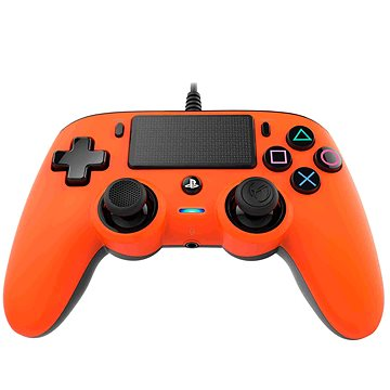 Nacon Wired Compact Controller PS4 - oranžový (PS4OFCPADORANGE)