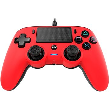 Nacon Wired Compact Controller PS4 - červený (PS4OFCPADRED)