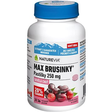 Swiss NatureVia Max brusinky pastilky tbl.30+6 (3682888)