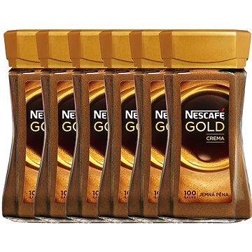 NESCAFE GOLD Crema Sklo 6x200g CZ (7613034074645)