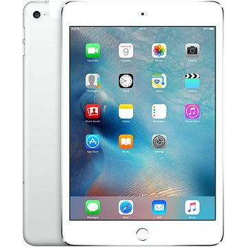 iPad mini 4 s Retina displejem 128GB Cellular Silver (MK772FD/A)
