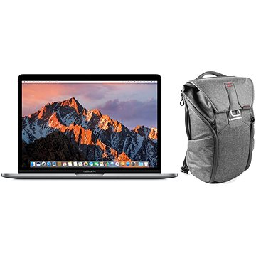 MacBook Pro 13 Retina CZ 2017 s Touch Barem Vesmírně šedý + Peak Design Everyday Backpack 20L - tma