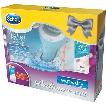 Elektrický pilník SCHOLL Velvet Smooth WET&DRY Sada (Elektrický pilník do vody + Intenzivní sérum 30 ml) (5997321771588) + ZDARMA Dárek SCHOLL Pocket Ballerina - černé baleríny (vel.39-40)