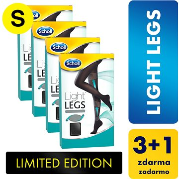 SCHOLL Light Legs 60DEN kompresní punčochové kalhoty černé S 3+1 ks (5997321772530)