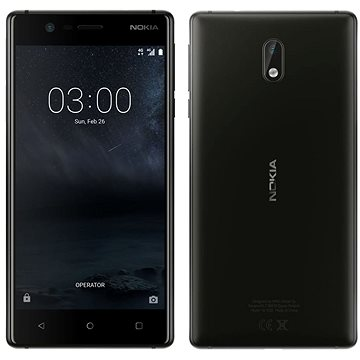 Nokia 3 Matte Black Dual SIM (11NE1B01A16) + ZDARMA Digitální předplatné Interview - SK - Roční od ALZY Digitální předplatné Týden - roční