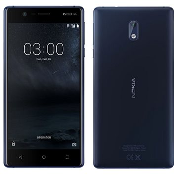 Nokia 3 Tempered Blue Dual SIM (11NE1L01A13)