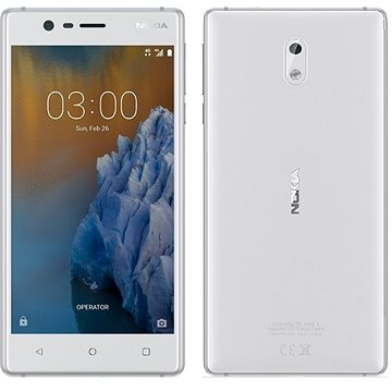 Nokia 3 White Silver Dual SIM (11NE1S01A14)
