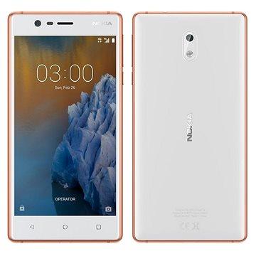 Nokia 3 White Copper Dual SIM (11NE1R01A22) + ZDARMA Digitální předplatné Interview - SK - Roční od ALZY Digitální předplatné Týden - roční