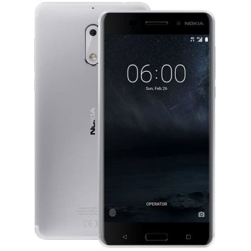 Nokia 6 Silver (11PLES01A10) + ZDARMA Digitální předplatné Týden - roční