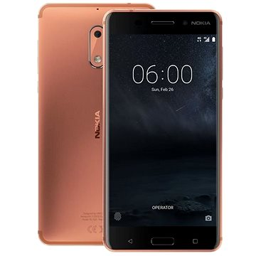 Nokia 6 Copper Dual SIM (11PLEM01A12) + ZDARMA Digitální předplatné PC Revue - Roční předplat