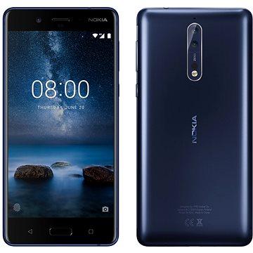 Nokia 8 Dual SIM Tempered Blue (11NB1L01A12) + ZDARMA Digitální předplatné Interview - SK - Roční od ALZY
