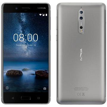 Nokia 8 Dual SIM Steel (11NB1S01A06) + ZDARMA Digitální předplatné Interview - SK - Roční od ALZY Poukaz Elektronický dárkový poukaz Alza.cz v hodnotě 1000 Kč, platnost do 31/12/2017
