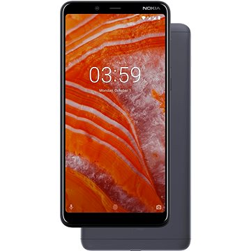 Nokia 3.1 Plus šedá