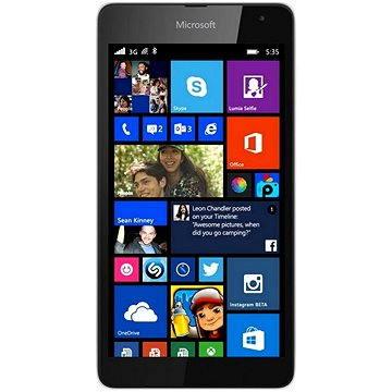 Microsoft Lumia 535 bílá (A00023062) + ZDARMA Power Bank Mobile Battery 2600 mAh Digitální předplatné Týden - roční