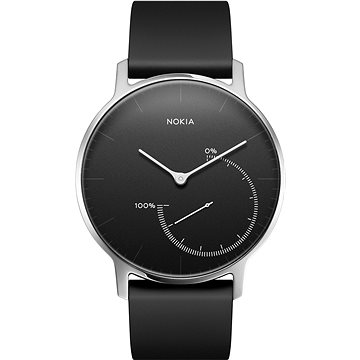 Chytré hodinky Nokia Steel Black (36mm) (HWA01-Black-All-Inter)