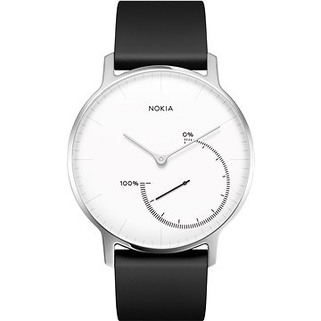 Chytré hodinky Nokia Steel Black/White (36mm) (HWA01-White-All-Inter)