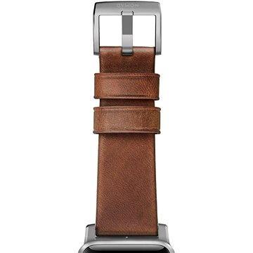 Řemínek Nomad Horween Leather Strap Traditional Silver (NM1A4RST00)