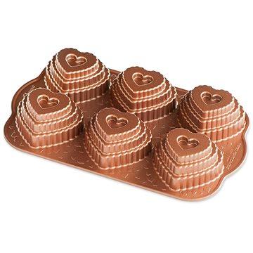Nordic Ware Vrstvené srdíčko plát se 6 formičkami měděná (90937FUR)