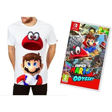 Super Mario Odyssey + Originál Tričko - Nintendo Switch (NSS670)