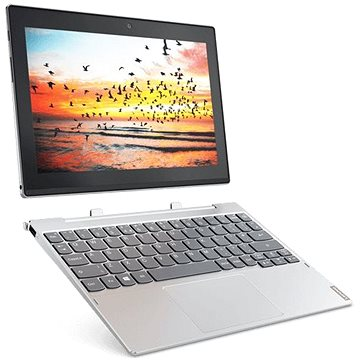 Lenovo Miix 320-10ICR Platinum Metal 128GB LTE + dock s klávesnicí (80XF008SCK)