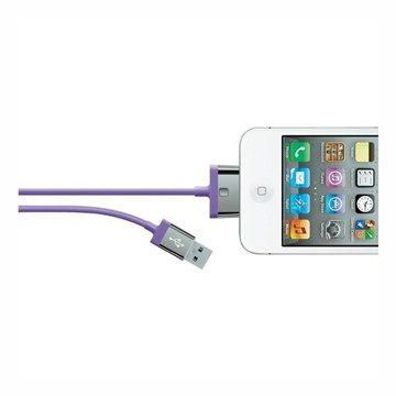 Belkin MIXIT 30-pin kabel fialový, 2m (F8J041cw2m-PUR)