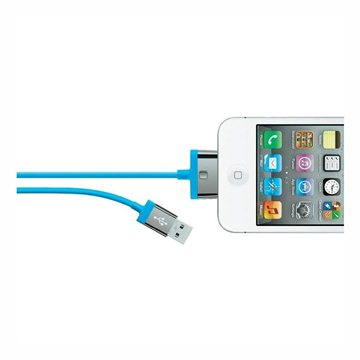 Belkin MIXIT 30-pin kabel modrý, 2m (F8J041cw2m-BLU)