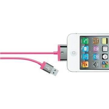 Belkin MIXIT 30-pin kabel růžový, 2m (F8J041cw2m-PNK)