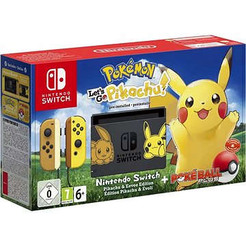 Nintendo Switch + Pokémon: Lets Go Pikachu + Poké Ball (045496452414)