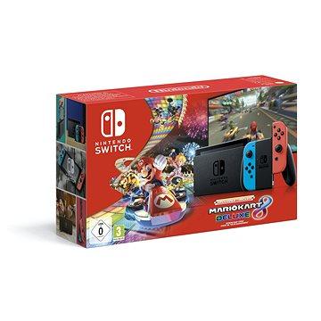 Nintendo Switch Neon + Mario Kart 8 Deluxe (045496452575)