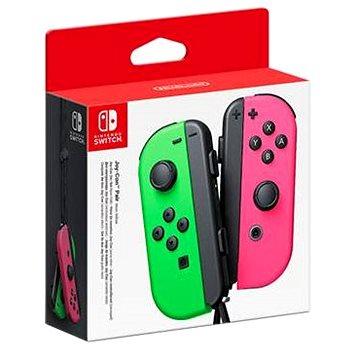Nintendo Switch Joy-Con ovladače Neon Green/Neon Pink (045496430795)