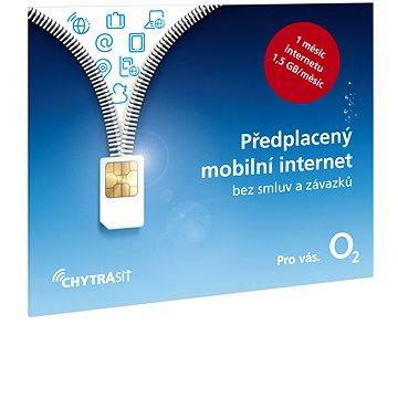 O2 Předplacený mobilní internet s 1,5 GB (SMALLPO2.363Z30)