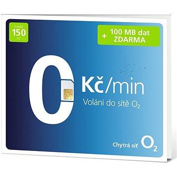 O2 Předplacená karta s voláním do O2 zdarma (SMALLPO2.150DV37)