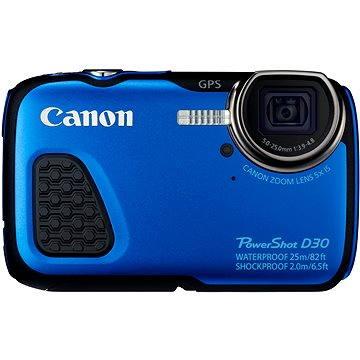 Canon PowerShot D30 modrý (9337B011) + ZDARMA Pouzdro Canon SC-DC80