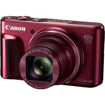 Canon PowerShot SX720 HS červený (1071C002AA) + ZDARMA Pouzdro Canon DCC-2400