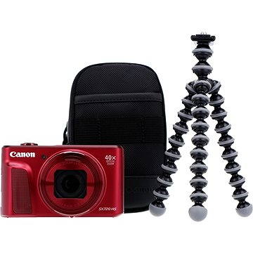 Canon PowerShot SX720 HS červený Travel Kit (1071C017)