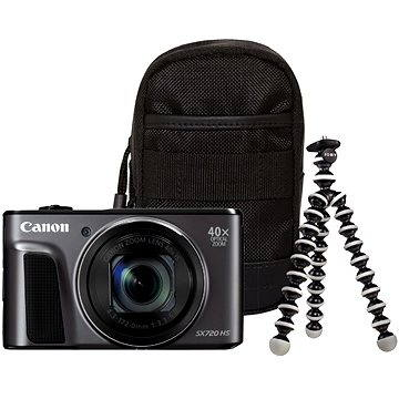 Canon PowerShot SX720 HS černý Travel Kit (1070C018)