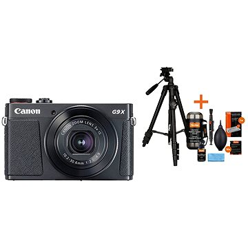 Canon PowerShot G9 X Mark II černý + Rollei Foto Starter Kit 2