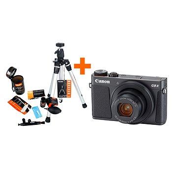 Canon PowerShot G9 X Mark II černý + Rollei Starter Kit