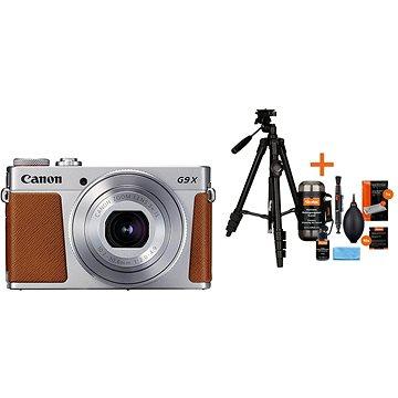 Canon PowerShot G9 X Mark II stříbrný + Rollei Foto Starter Kit 2