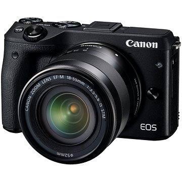 Canon EOS M3 černý + objektiv EF-M 18-55 mm (9694B063)