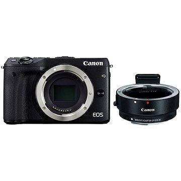 Canon EOS M3 černý + adaptér pro EF/EF-S objektivy (9694B131AA)