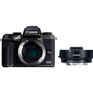 Canon EOS M5 tělo černý + adaptér EF-EOS M (1279C041AA)